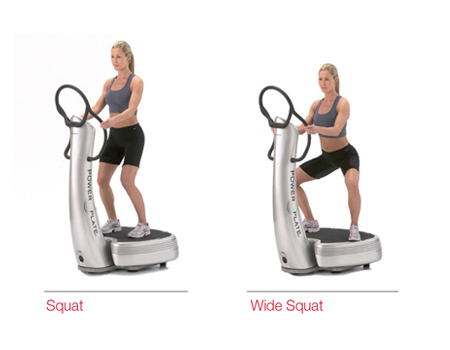 Squat, Wide Stance, Calves & Lunge on a Power Plate