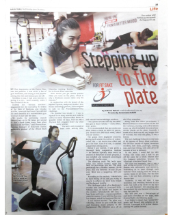 Power Plate in The Malay Mail