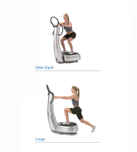 Deep Squat & Lunge on a Power Plate